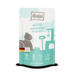 MjAMjAM - Premium Nassfutter für Katzen - Quetschie - Gute Pute an gedämpftem Kürbis