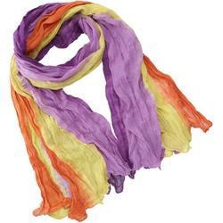 Guru-Shop Modetuch Batiktuch, Batikschal, Batiksarong - violett/gelb 100 cm x 180 cm