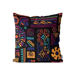 Kissenbezug, VOID (1 Stück), Ethnisches Muster Kissenbezug ethnisch afrikanisch mexikanisch griechisch 40 cm x 40 cm