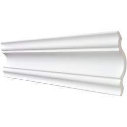 DECOSA Zierprofil Selina, 2 m Länge weiß