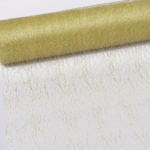 Spiderweb - Mesch - Tischläufer - Tischband - 30cm metallic Gold - Rolle 25m - 67 003-R 300