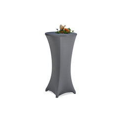 Stehtischhusse Stehtischhusse 60-65 cm, relaxdays grau