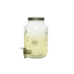 Decoris Getränkespender aus Glas, 3,8 l