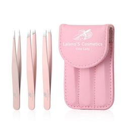 Lalano`S Cosmetics Pinzette Deluxe- Pinzetten Set, 4-tlg.
