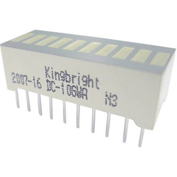 Kingbright DC-10GWA LED-Bargraph 10fach Grün (B x H x T) 25.4 x 10.16 x 8mm