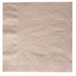 NATURSTAR Servietten, 33 x 33 cm, 1/4 Falz, Mundtuch aus 100% Recycling-Papier in Naturbraun, 1 Karton = 8 Packungen á 250 Stück
