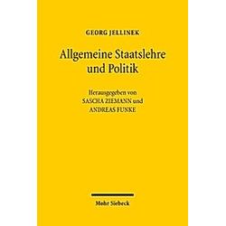 Georg Jellinek: Allgemeine Staatslehre und Politik. Georg Jellinek  - Buch