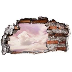 Wall-Art Wandtattoo Lila Wolken Sticker 3D Himmel (1 Stück) 40 cm x 20 cm x 0,1 cm