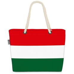 VOID Strandtasche (1-tlg), Ungarn Flagge EM WM Länderflagge Fahne