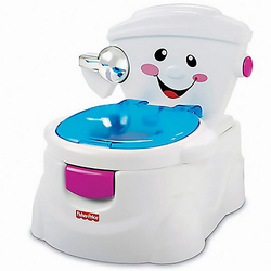 Fisher-Price Meine erste Toilette, Töpfchen mit Musik, Toilettentrainer, Kinder-WC