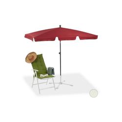 relaxdays Sonnenschirm Rechteckiger Sonnenschirm für den Garten rot
