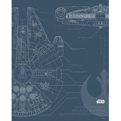 Komar Poster Star Wars Blueprint Falcon, Star Wars 40 cm x 50 cm