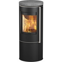 Fireplace Orando Stahl schwarz/Speckstein