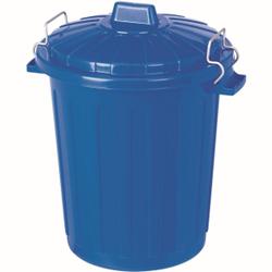 CURVER Mini-Oscar-Tonne Aufbewahrungsbox, S, Aufbewahrungstonne mit Deckel, Farbe: blau