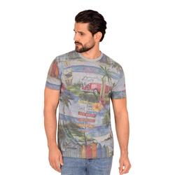 Trigema Print-Shirt mit buntem Druck für Herren L