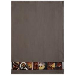 framsohn Geschirrtuch Waffel ''Kaffee'' 50 x 70 cm Taupe - Braun