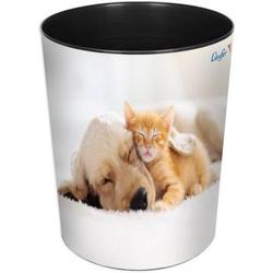 Papierkorb 13 Liter rund Kunststoff Hund und Katze