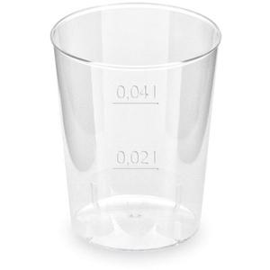 200x Schnapsglas glasklar Shotgläser Stamperl mit Eichstrich 2cl / 4cl