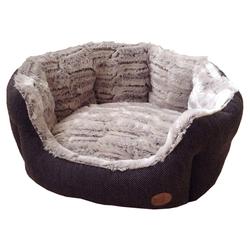 Nobby Hundebett oval Cacho braun, Maße: 65 x 57 x 22 cm
