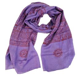 Guru-Shop Modetuch Dünnes Baba Tuch, Benares Lunghi - lila lila