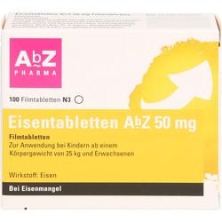 EISENTABLETTEN AbZ 50 mg Filmtabletten 100 St.