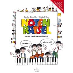 Notenrätsel für den Klavier-Partnerunterricht