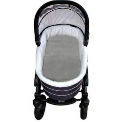 Babylammfell Lammfell-Einlage, Heitmann Felle, ideal geeignet als Einlage für Soft-Tragtasche, Kinderwagen, Buggy, Kinderbett etc., besonders weich, waschbar grau