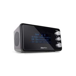 AudioAffairs Uhrenradio DAB BK Radiowecker (Digitalradio (DAB), Digitaler Radiowecker mit zwei Weckzeiten, Uhrenradio mit UKW)