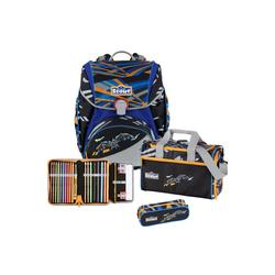 Scout Schulranzen Alpha Schulrucksack Set 4 tlg. blau