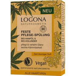LOGONA Haarspülung Logona Feste Spülung Hanföl & Holunder weiß