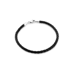 Nenalina Armband Bead Anhänger Bettelarmband Fake Leder 925 Silber