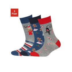 SYMPATICO Socken blau / rot, Größe 35/38, 4508638