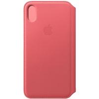 Apple iPhone XS Max Leder Folio pfingstrosenpink