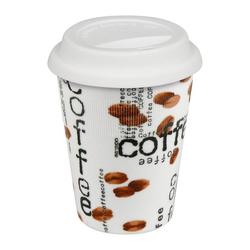Könitz Coffee-to-go-Becher Coffee Collage Becher mit Deckel