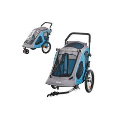PawHut Fahrradhundeanhänger Fahrradanhänger für Hunde blau