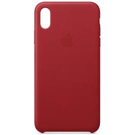 Apple iPhone X Leder Case rot