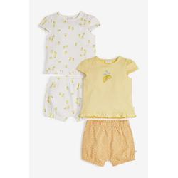 Next T-Shirt & Shorts Shorts mit Zitronenmuster, 4-teilig (4-tlg) 68 - 74