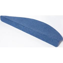 Stufenmatte Paris, Andiamo, halbrund, Höhe 2 mm, Teppich-Stufenmatten, Treppen-Stufenmatten, Treppenschutz, für innen, im Set blau