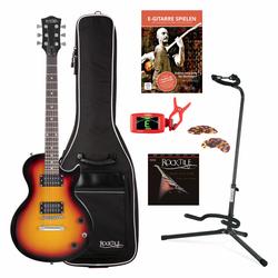 Rocktile L-100 SB E-Gitarre Sunburst SET inkl. Gigbag + Ständer + Saiten + Tuner + Plektren + Gitarrenschule mit CD/DVD
