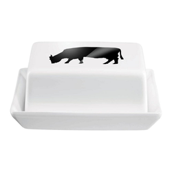 ASA SELECTION Butterdose Grande mit Kuh Motiv L 16.5 cm, Keramik, (1-tlg)