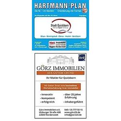 HARTMANN-PLAN Quickborn mit Bönningstedt  Hasloh und Ellerau  1:20.000 Stadtplan - Buch