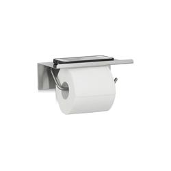relaxdays Toilettenpapierhalter Toilettenpapierhalter Edelstahl