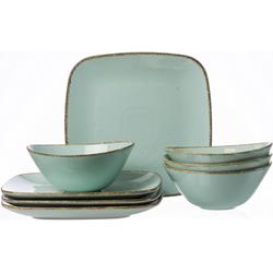 Ritzenhoff & Breker Tafelservice CASA, (Set, 8 tlg.), Vintage Look blau Geschirr-Sets Geschirr, Porzellan Tischaccessoires Haushaltswaren