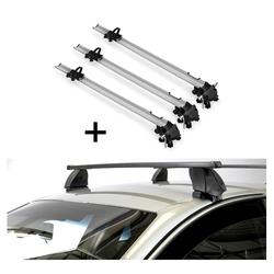 VDP Fahrradträger, 3x Fahrradträger Bike Pro + Dachträger K1 MEDIUM kompatibel mit Opel Insignia (4Türer) 09-13