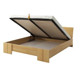 Łóżko Loke z drewna sosnowego z pojemnikiem na pościel