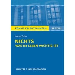 Nichts. Was im Leben wichtig ist von Janne Teller als Taschenbuch von Janne Teller/ Thomas Möbius