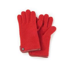 Handschuh aus gewalkter Schurwolle Roeckl rot