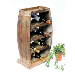 DanDiBo Weinregal Weinregal Holz Weinfass 1549 Bar Flaschenständer 70 cm für 13 Fl. Regal Fass Holzfass