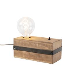 Industrielle Tischlampe aus Holz - Reena
