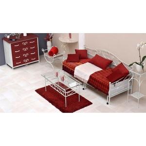 Tagesbett Metall Gora - 80x200 cm - weiß - Tagesbett ausziehbar